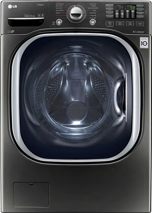 LG WM4370HKA 27 Black Stainless Steel Series Front Load Washer with 4.5 cu. ft. Capacity, in Black Stainless Steel