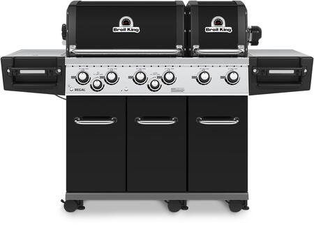 957247 REGAL XL PRO Natural Gas Grill with 6 Burners  60000 BTU Main Burner Output  750 sq. in. Cooking Area  10000 BTU Side Burner  15000 BTU Rotisserie