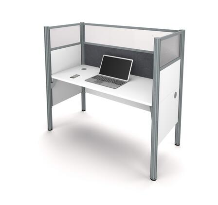 100871DG-17 Pro-Biz Simple workstation in White with Gray Tack