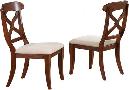 Dluadwc12ct2 Andrews Dining Chair In Chestnut (set Of