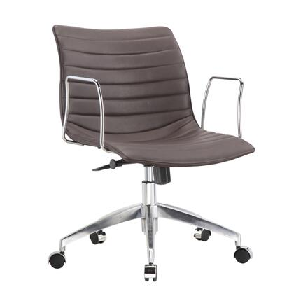 FMI10224-dark brown Comfy Office Chair Mid Back  Dark