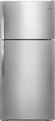 WRT134TFDM 28 inch  Energy Star Rated and ADA Compliant Top-Freezer Refrigerator with 14.3 cu. ft. Capacity  Adjustable Wire Shelves  Quiet Cooling and Freezer