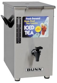 032500003 TD4T Dispenser Square Style Iced Tea And Coffee Dispenser With Solid Lid  4Gal (15.1L) Capacity  Sight Gauge  in