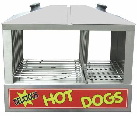 Hds1200w 18 Hot Dog Steamer With Bun Compartment  Up To 100 Hot Dog Capacity  Humidity Control System  Front Drain And Plug  Full View Tempered Glass And Top