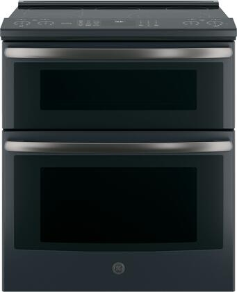 PS960FLDS 30 inch  Slide In Electric Double Oven Convection Range with 6.6 cu. ft. Total Capacity  12 inch /9 inch /6 inch  3 600 Power Boil  Glide Touch Control  Wi-Fi Connect