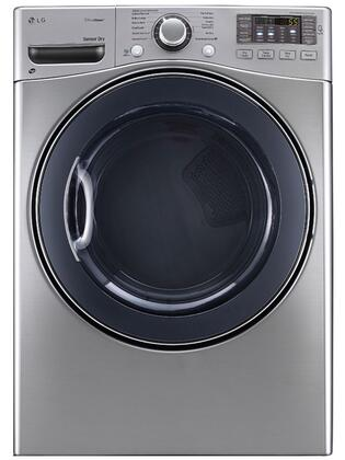 DLGX3571V 7.4 Cu. Ft. Ultra Capacity Front Load Steam Gas Dryer with Alcosta Steel Drum  LoDecibel Quiet Operation  NFC Tag On  Sensor Dry System 358592