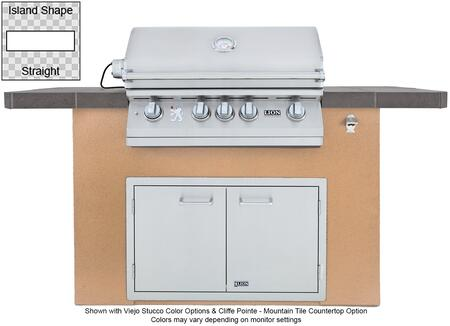90103 Prominent Q L75000 Premium Stainless Steel Grill with Stucco Base  Tile Countertop  Stainless Steel Double Door with Towel Rack  GFCI Outlet and Bottle