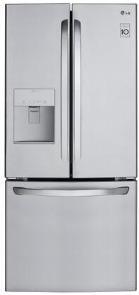 LG LFDS22520S 22 Cu. Ft. Stainless French Door Refrigerator