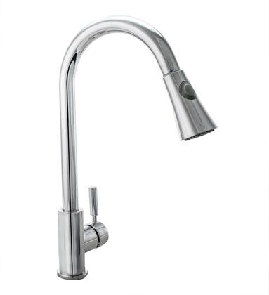 COS-KF501C Pull Down Single Kitchen Faucet with Pull Down Sprayer  Stainless Steel Braided Hose  Ceramic Disc Valve and Brass Construction  in