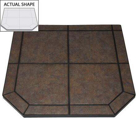 AP425 40 inch  x 40 inch  Flat Wall Hearth Board from the Designer Collection