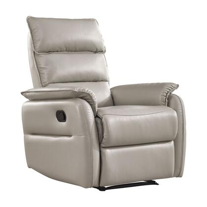RL1443PLGRY Allen Recliner Armchair  Light Grey Faux Leather With Manual Relax