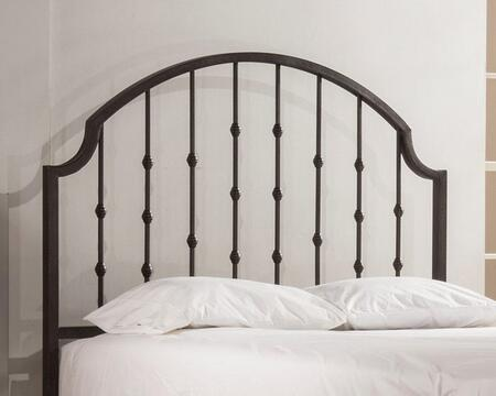 Westgate Collection 1760HWQR Queen Size Headboard with Rails  Open-Frame Panel Design and Sturdy Metal Construction in Rustic