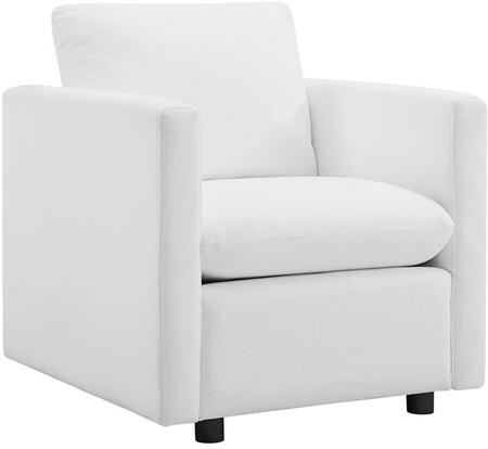 Modway EEI-3045-WHI Activate Upholstered Fabric Armchair White