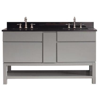 TRIBECA-VSB60-CG-A Avanity Tribeca 60 in. Vanity Combo with Base in Chilled Gray