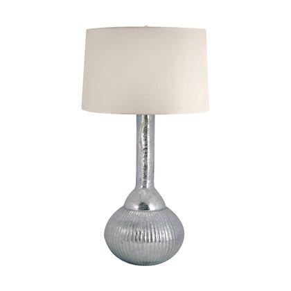 217 Fluted Mercury Glass Table Lamp in Silver Silver