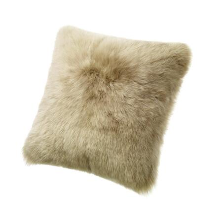 Auskin CLS50F-TP 20 inch  Square Sheepskin Wool Cushion in