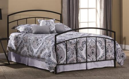 Julien Collection 1169BQR Queen Size Bed with Headboard  Footboard  Rails  Open-Frame Panel Design and Sturdy Metal Construction in Textured