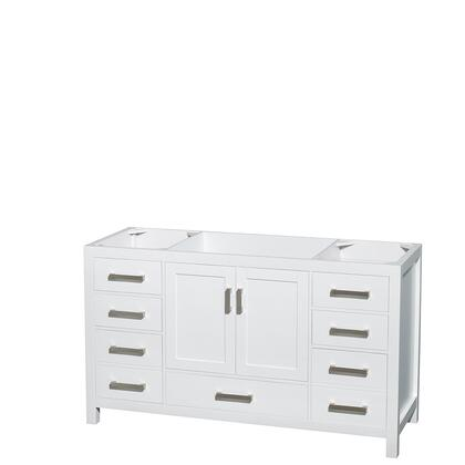 Wcs141460swhcxsxxmxx 60 In. Single Bathroom Vanity In White  No Countertop  No Sink  And No