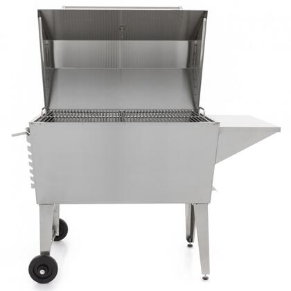 PGI100SS Super Cajun Grill with 748 sq. inches Cooking Area  Adjustable 12 Gauge Charcoal Tray  Removable Ash Pan  in Stainless