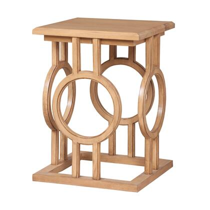 714028 Circle Cut Out Accent Table