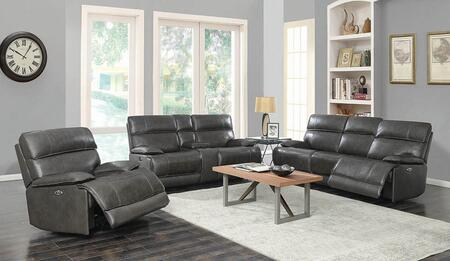 Stanford Collection 650221P-S3 3-Piece Power Reclining Living Room Set with Sofa  Loveseat and Recliner in