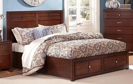 Kensington Collection BH060-410/428/530 Full Size Storage Bed with European Side Mounted Drawer Glides and Roll Out Slat Kit in Burnished Cherry