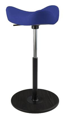 MOVE 2600 DINIMICA 8402 BLK HI BLK 26 inch  - 34 inch  Sit-Stand Chair with Dinimica Upholstery  8402 Color Code  Black Ash Base  High Lift Height and Black Gas