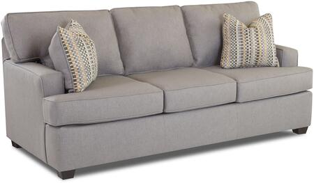Cruze Collection E92820-S-LP-MS 80 inch  Sofa with Fabric Upholstery  Recessed Arms and Block Feet in