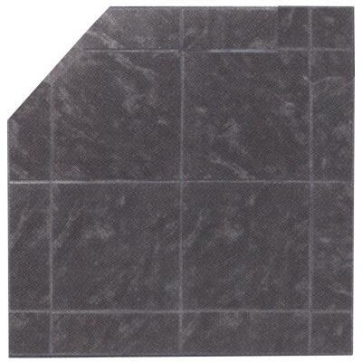 HRS36BFC Corner Stoveboard SL Hearth Pad  Black