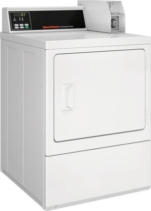 SDENCRGS173TW02 Single Load Electric Dryer with 7 Cu. Ft. Capacity  Rear QUANTUM Controls  Reversible Solid Door  Upfront Lint Filter  5 Temperature Settings