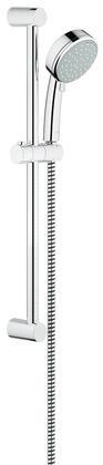 26076001 New Tempesta Cosmopolitan 100 Shower Rail Set with 2 Spray Settings: Rain/Jet  69 inch  Plastic Shower Hose and 24 inch  Shower Bar in StarLight