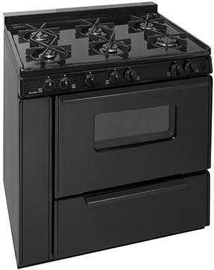 BTK5X0BP 36 inch  Freestanding Gas Range with 6 Sealed Burners  in