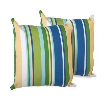 PILLOW-BSTRIPE-18×18-2x Blue Stripe Outdoor Throw Pillows Square Set of