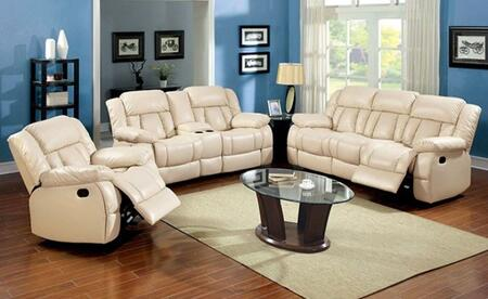 Barbado Collection CM6827-SLR 3-Piece Living Room Set with Motion Sofa  Motion Loveseat and Recliner in