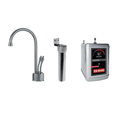 LB6280-FRC-3HT Faucet Set with LB6280 Farm House Filtered Hot & Cold Water Dispenser  FRCNSTR Filter Canister with Housing and HT-300 Little Butler Heating