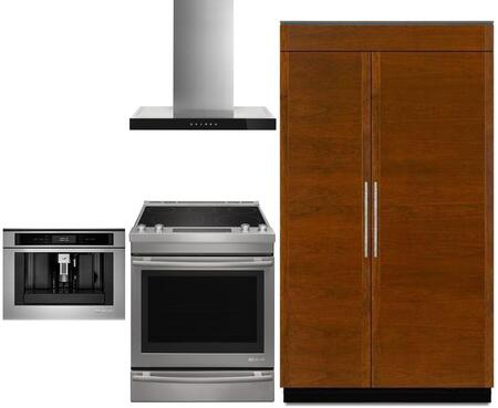4 Piece Kitchen Appliance Package with JS48NXFXDE 48