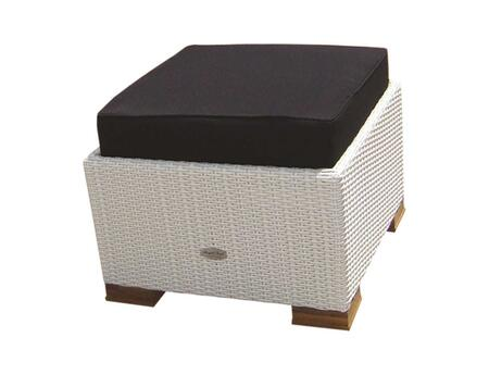 CHAFW 24 inch  Charleston Footrest in White Wash with Black