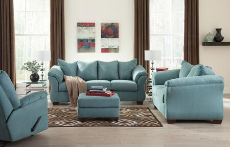 Darcy 75006SLOR 4-Piece Living Room Set with Sofa  Loveseat  Ottoman and Recliner in