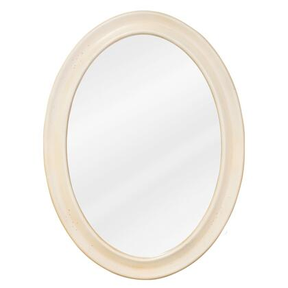 MIR061 Bath Elements 23.75 inch  x 31.5 inch  Buttercream Clairemont Oval Mirror with Beveled