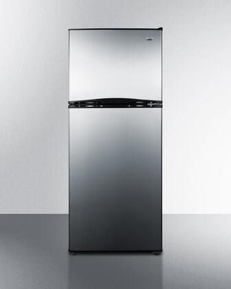 Summit FF1085SSIM 24 Inch Freestanding Counter Depth Top Freezer Refrigerator in Stainless Steel