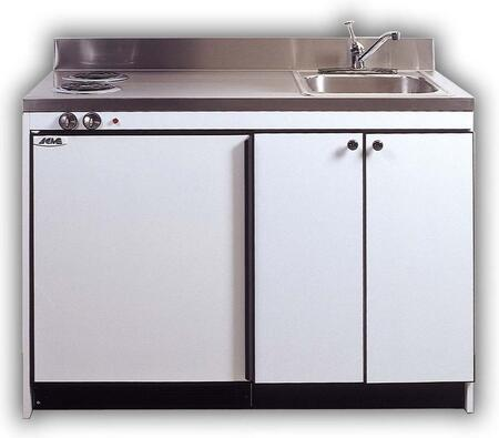 RGS10Y48 Efficiency Kitchenettes Compact Kitchen with Sink and Compact Refrigerator and Optional Gas Burners: 48