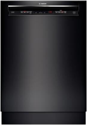 "Bosch 300 Series 24"" Tall Tub Built-In Dishwasher with Stainless-Steel Tub Black SHE53T56UC"