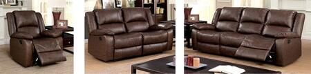 Kris Collection CM6293-SLR 3-Piece Living Room Set with Motion Sofa  Motion Loveseat and Recliner in