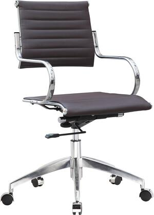 FMI10210-dark brown Flees Office Chair High Back  Dark