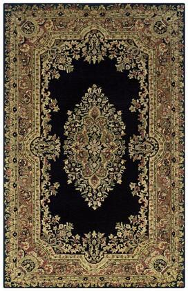 Shisn035106750912 Shine Sn0351-9 X 12 Hand-tufted 100% Semi-worsted New Zealand Wool Rug In Black   Rectangle