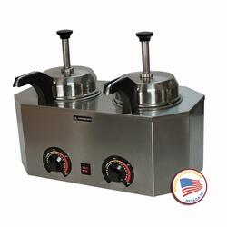 2029C Pro-Deluxe #10 Can Warmer-Dual Unit with Stainless Steel