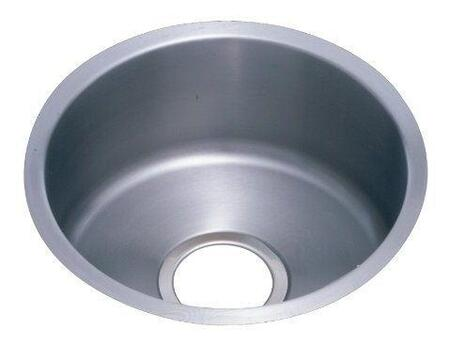 ELUH12FB 14 inch  Undermout Single Bowl Sink with 18-Gauge Material  6 inch  Bowl Depth  3.5 inch  Drain and Reveal: Stainless