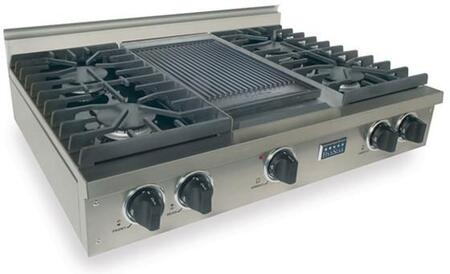 TPN-037-7 36 inch  Sealed Burner Pro-Style LP Gas Rangetop With 4 Sealed Ultra High-Low Burners  Double Sided Grill/Griddle  Electronic Ignition  120 Volts  In