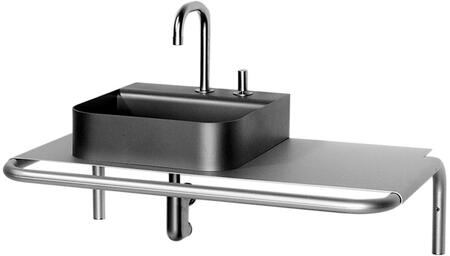 AELA185 Aeri single shelf wall mount aluminum structure with integral towel