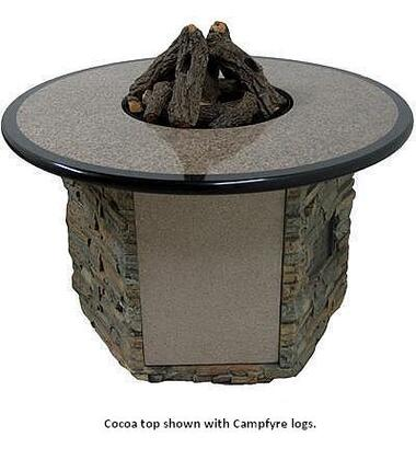 OCTBS-52A-GE-01 Granite Table with Stack Stone Base